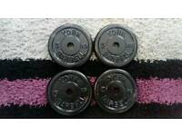 4 x 5kg York metal weight plates