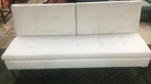 BRAND NEW 3-SEAT BONDED LEATHER IVORY EURO LOUNGER