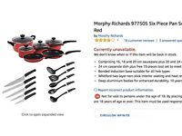 Morphy Richards cook tools set ALL in ONE SET!!!
