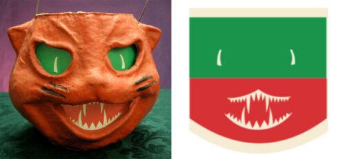 GLASSINE PAPER REPLACEMENT FACE FOR CAT HEAD PAPER MACHE LANTERN #W