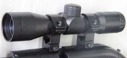Compact Size 4x30 Scope + Ring Mounts Fits Crosman Recruit Legacy 1000 Air Rifle