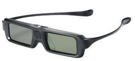 SHARP AN3DG35 Black 3D Glasses with 3D to 2D conversion