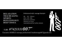 Mobile Professional male massage therapist. Men/Women/Couples