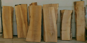 Kiln dried live edge slabs and boards for DIYs