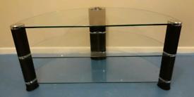 John Lewis TV Stand | Walnut & Glass | RRP £200