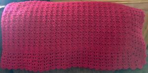 Handmade crocheted blankets