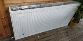 Central heating white double radiator - 1200mm * 600mm