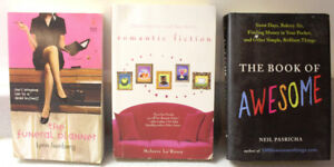 Lot of 6 novels: The book of Awesome, The Funeral planner, etc