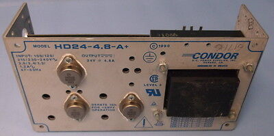 Condor Output 24v 4.8a Input 100120 Power Supply Hd24-4.8-a