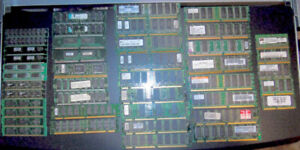 Used OLD Computer RAM Chip Sticks the complete LOT all of them.