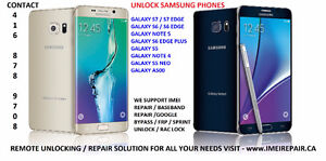 Unlock Repair Samsung S7, S6, Note 5, Neo, S6 Edge S5 Note 4