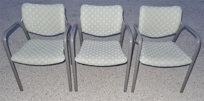 3 Herman Miller Aside Stacking Chairs