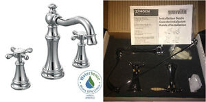 New Moen Weymouth 2-Handle Bathroom Faucet in Chrome Finish