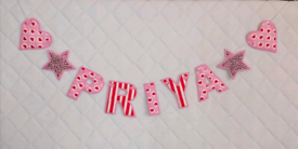 Personalised Fabric Name Banner