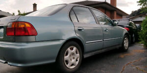Honda Civic EX 1999 Sedan LOW KM