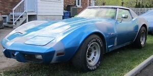 Corvette 1975 project to be completed 75% done