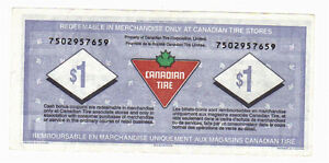 1996 $1.00 CTC CANADIAN TIRE MONEY NOTE 75 years of service Kitchener / Waterloo Kitchener Area image 2