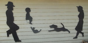 Wall Art or Yard Art, Shadow Picture,