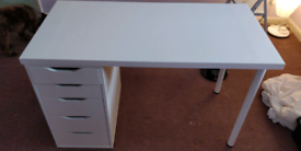 "IKEA ""Alex"" pedestal + desktop and legs."