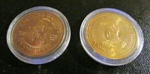 TWO (2) 1990 KW Oktoberfest $2 Trade Dollars ~ Julius Rauchfuss