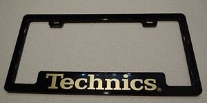 Promotional Technics License Plate Frame Circa Late 1980's