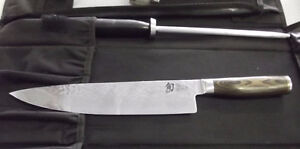"""SHUN VG-MAX DAMASCUS KNIFE HAND CRAFTED IN JAPAN 10"""" Windsor Region Ontario image 3"""