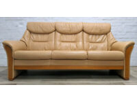 Himolla Leather Sofa With Armchair (DELIVERY AVAILABLE)