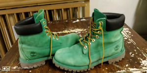 Timberland Green Boots Size (8.5)