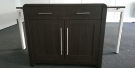 Cabinets white and brown