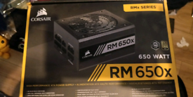 Corsair RM650X 650W Fully modular PSU power supply.