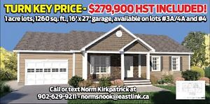 Turn Key New Home for under $280,000 !!!