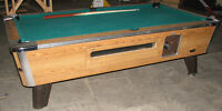 8' Pool Table - Valley Cougar ZD-6 Coin-Operated