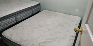 2 queen mattress and 1 box spring for sale. Just like new
