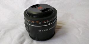 Sony DT 30mm F2.8 Macro SAM Lens. (SAL30M28)