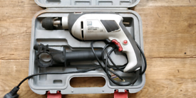 Hammer drill with precision Lazer and hard case