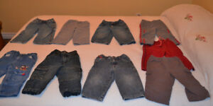 Jeans, pants and sports pants, size 18 months