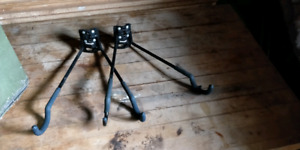 Two wall mount bike hangers