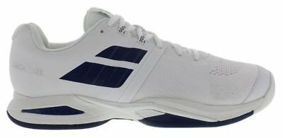 Babolat Propulse Blast White/Navy Men's Shoes - Size 11 - FREE String and Grip (Tennis-schuhe Strings)