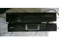 Cd players (1 teac and 1 philips)