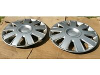 Ford hub caps wheel trims £10 FOR PAIR ono, 15 inch Genuine Parts. Excellent condition.