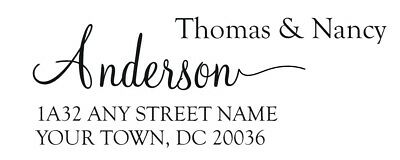 Self Inking Return Address Stamp Personalized Designer Address Self Ink Stamp