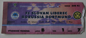 old TICKET UEFA Slovan Liberec Czech Republic Borussia Dortmund Germany in Praga - <span itemprop=availableAtOrFrom>Poznan, Polska</span> - old TICKET UEFA Slovan Liberec Czech Republic Borussia Dortmund Germany in Praga - Poznan, Polska