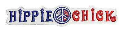 Hippie Chick Embroidered Iron On Patch - Peace Signs - 151-I (Hippie Chick)