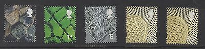 N Ireland. 2001. NI89-93. Set x 5 elliptical Machins. Superb unmounted mint.