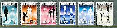 Curacao 2014 Scott 192-97, Fight Against Cancer, Ribbons NH