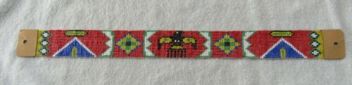 Sioux Indian Bead Beaded Beadwork Vintage Hat Band Necklace Route 66 Souvenir
