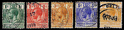 1913-17 BRITISH HONDURAS #76-78 & MR5 KGV - USED - VF - CV$7.85 (ESP#1799)