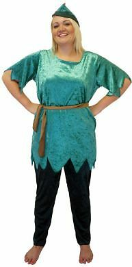 PETER PAN /PANTO/FAIRYTALE/HEROES & VILLIANS FANCY DRESS COSTUME PLUS SIZE 18-40](Plus Size Peter Pan Costume)
