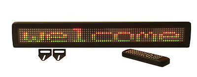 New Tricolor Led Programmable Message Display Sign With Wireless Remote Control