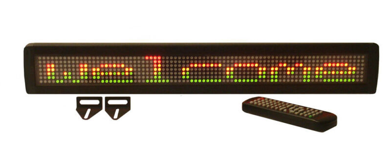 NEW! TriColor LED Programmable Message Display Sign with Wireless Remote Control